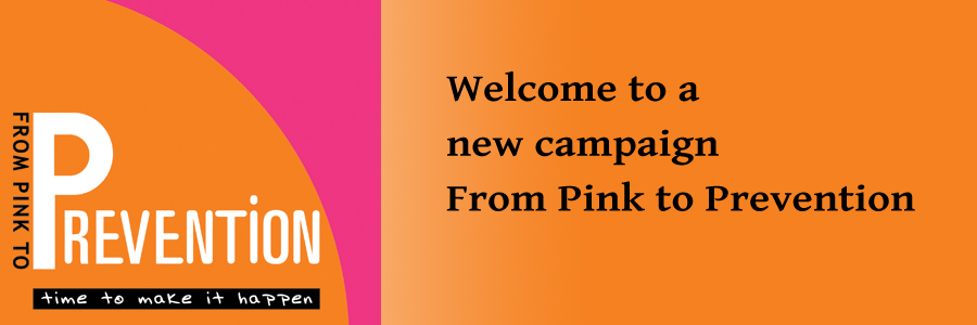 welcome slides from pink to prevention