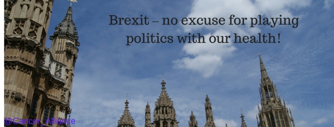 Brexit – no excuse for playing politics with our health.
